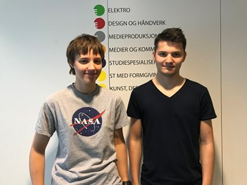 Emma og Mathias skal på Space Camp